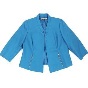 Nipon Boutique Blue Zipper Jacket